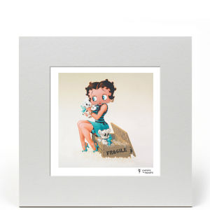 Betty Boop Puppies 8x8 Limited Edition Print