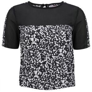 Neon Rose Women's Tile Print T-Shirt - Multi