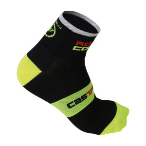 Castelli Rosso Corsa 6 Cycling Socks - Black/Yellow