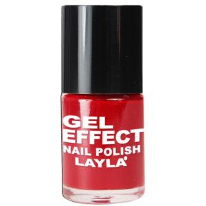 Layla Cosmetics Gel Effect Nail Polish N.06 Power Red (10ml)