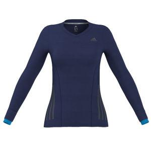 adidas Women's Supernova Long Sleeve Running Top - Night Blue/Solar Blue