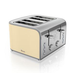 Swan ST17010CN 4 Slice Toaster - Cream