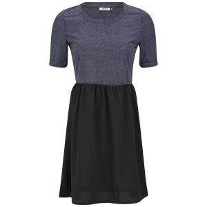 Only Women's Abel Contrast Skater Dress - Navy/Black