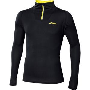 Asics Men's Mile Long Sleeve 1/2 Zip Performance Running Top - Black