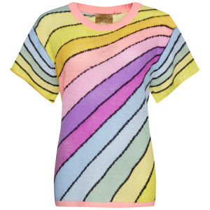 Wildfox Women's Over The Rainbow Lake House Knit T-Shirt - Sunset