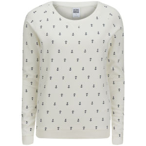 Vero Moda Women's Anco Anchor Sweat Top - White/Black Iris