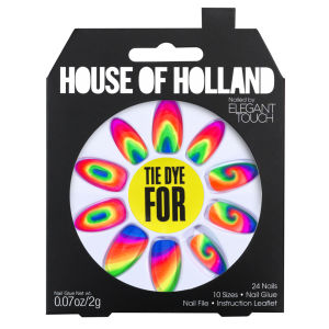 Ongles House of Holland Créés par Elegant Touch - Tie Dye For
