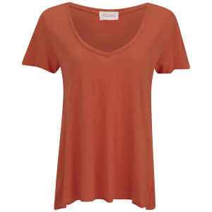 American Vintage Women's Jacksonville V-Neck T-Shirt - Wolfberry