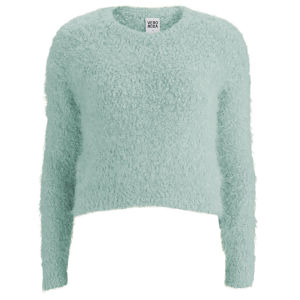 Vero Moda Women's Fluffy Jumper - Mint