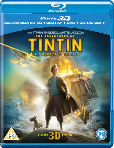 The Adventures of Tintin: The Secret of the Unicorn 3D (3D Blu-Ray, 2D Blu-Ray, DVD en Digital Copy)