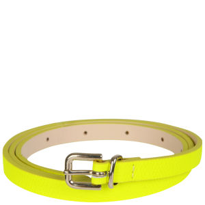 French Connection Pop Waisted Leather Belt - Citrus Rave