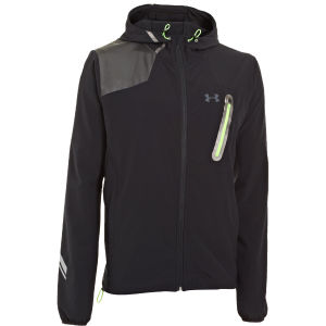 Under Armour Men's Stealth Storm Jacket - Black Asphalt/Hyper Green