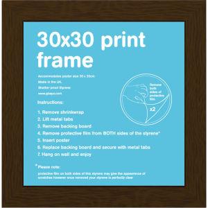 Walnut Frame - 30 x 30cm