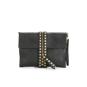 Thomas Calvi Women's Studded Zip Clutch - Black