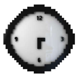 Pixelated Wall Clock