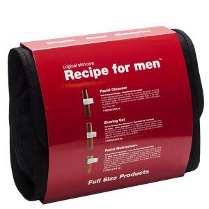 Recipe for Men- 護膚三件套裝(紅色)(洗面奶 + 剃鬚凝膠 + 深層保濕面霜)