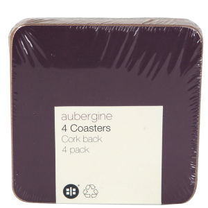 Aubergine Set of 4 Coasters