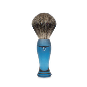 eShave Finest Badger Hair Shaving Brush Long Handle - Blue