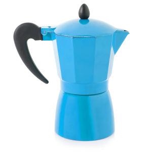 Cook In Colour 9 Cup Aluminium Espresso Maker - Blue