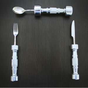 Eat Fit Dumb Bell Cutlery Set