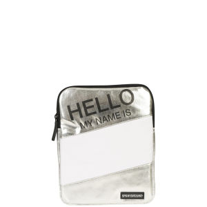 Sprayground Hello My Name Is IPAD Case- Metallic Silver