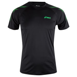 Asics Men's Tiger Top Short Sleeve T-Shirt - Black