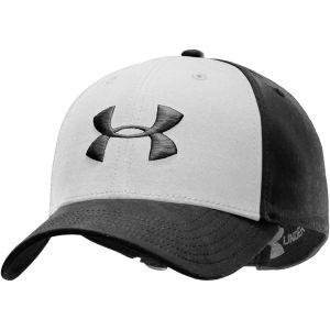 Under Armour Men's Washed Curved Adj Cap - Black