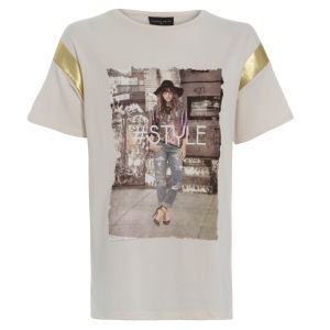 Damned Delux Women's #Style T-Shirt - Ivory