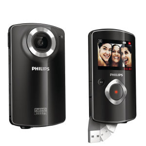 Philips CAM102BL HD Camcorder (1080p, 2 x Digital) - Black