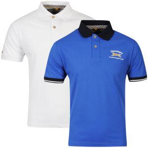 Slazenger Men's 2-Pack Polo Shirts - Royal/White
