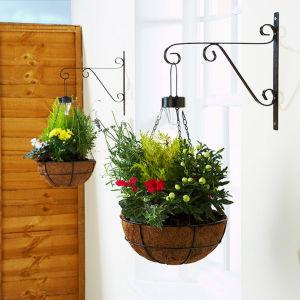 Solar Hanging Baskets - Black