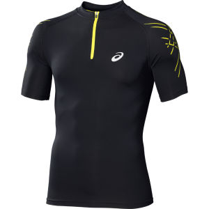 Asics Men's 1/2 Zip Performance Running Top - Black