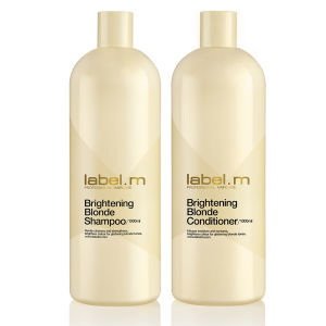label.m Brightening Blonde Shampoo and Conditioner 1000ml Duo