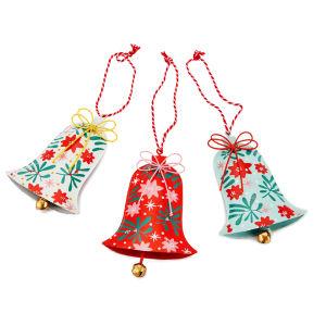 Gisela Graham Vintage Tin Flat Bell Decoration (10cm)