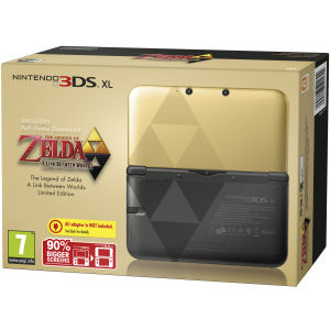 Nintendo 3DS XL Console: Bundle - Includes The Legend of Zelda: A Link Between Worlds - Limited Edition