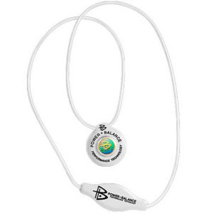 Power Balance -The Original Performance Pendant   White With Black Lettering