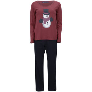 Tom Franks Women's Christmas Pyjamas - Red Snowman