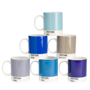 Pantone Universe Set of 6 Mugs - Mixed Blues