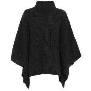 Damned Delux Womens Knitted Poncho - Grey