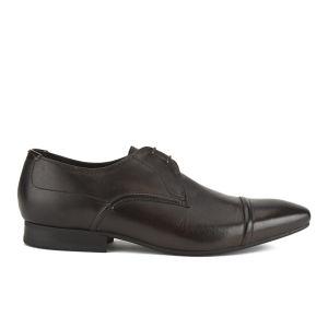 Hudson London Men's Larch Toe Cap Derby Shoes - Brown