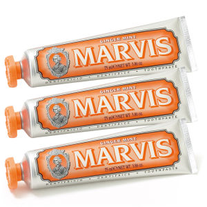 Marvis Ginger Mint Toothpaste Triple Pack (3 x 75 ml)
