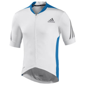 Adidas Supernova Short Sleeve Jersey - White/Solar Blue
