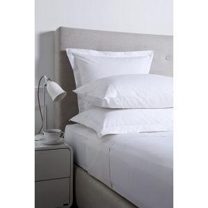 Christy 250 Egyptian Cotton Flat Sheet - White