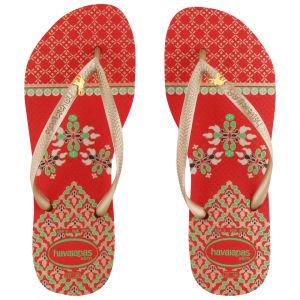 Havaianas Women's Slim Royal Flip Flops - Red