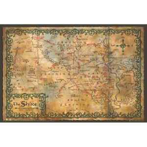 The Hobbit Map of the Shire - Maxi Poster - 61 x 91.5cm
