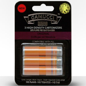 Gamucci Original pack of 3 Cartomizers - 0.6% Nicotine