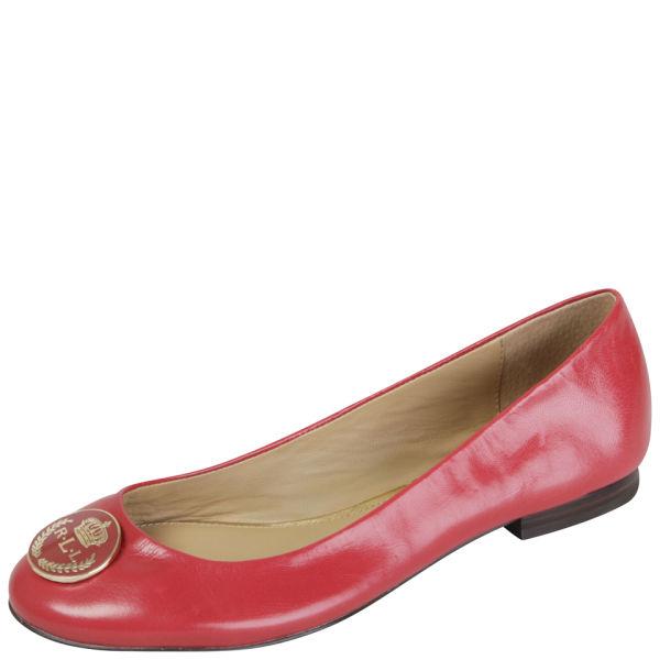 lauren ralph lauren women 39 s averie ballet pumps red free uk delivery allsole. Black Bedroom Furniture Sets. Home Design Ideas