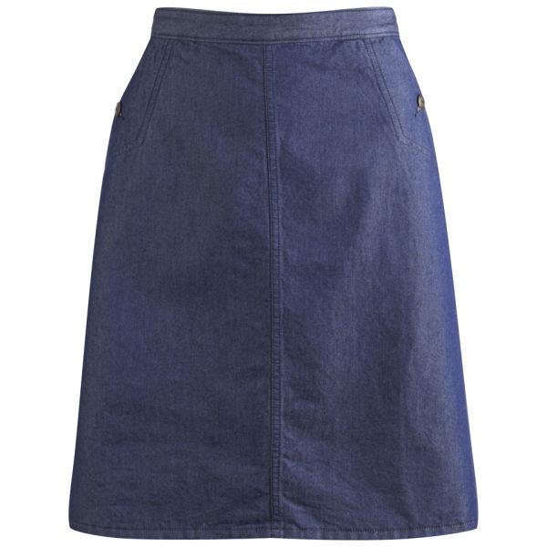 A.P.C. Women's Workwear Skirt - Indigo