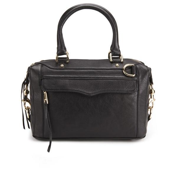 Rebecca Minkoff M.A.B. Mini Leather Bowler Bag - Black