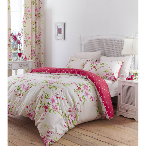 Catherine Lansfield Canterbury Bedding Set Red Iwoot